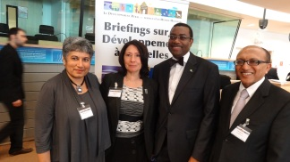From left to right: Rajul Pandya-Lorch, Head of 2020 Initiative IFPRI ; Isolina Boto, Head of CTA Brussels Office; Dr. Akinwumi Adesina, Honourable Minister of Agriculture, Nigeria; and Michael Hailu, Director of CTA