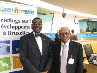 Special guest: Dr. Akinwumi Adesina, Honourable Minister of Agriculture, Nigeria, together with ichael Hailu, Director of CTA
