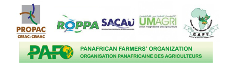 Logos for the 2nd Continental Briefing Inclusive Finance for Farmers in Africa