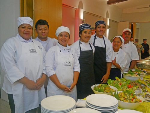2nd Pacific Agribusiness Forum - Day 2 Samoan chefs trained at the two-day Chefs Training Programme.