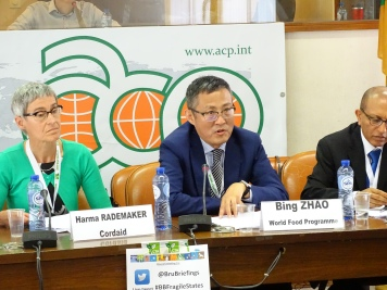 Harma Rademaker, Programme Manager, Cordaid, The Netherlands (L); Bing Zhao, P4P Director and Global Coordinator, World Food Programme (R)
