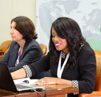 Opening Remarks (L-R): Isolina Boto, Manager, CTA Brussels Office; Lystra N. Antoine, CEO, Global Food Safety Partnership
