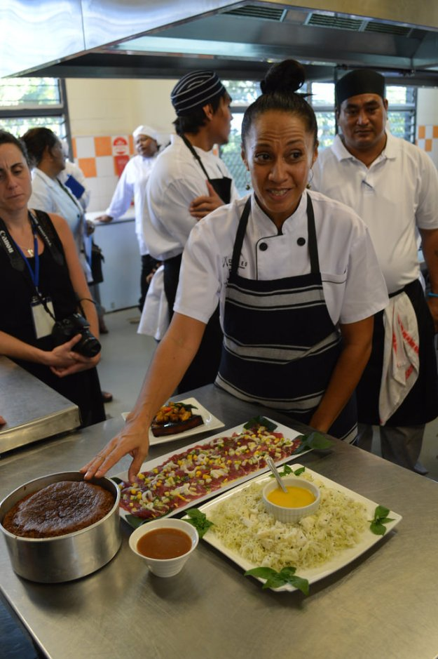 Showcasing local dishes at the 2nd Pacific Agribusiness Workshop