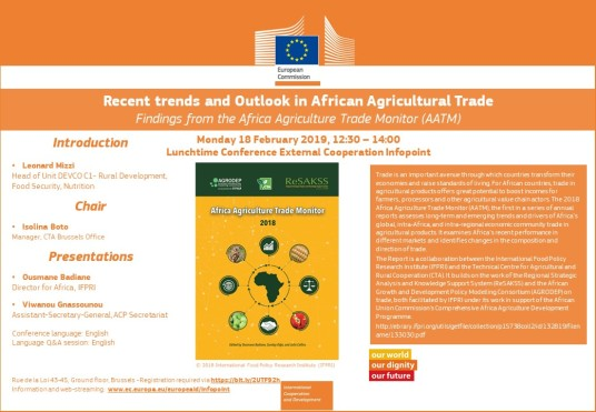 ''Recent trends and Outlook in African Agricultural Trade''
